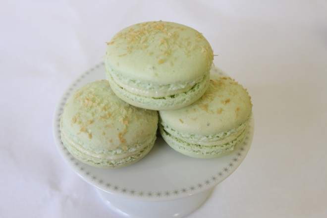 Lime and Coconut Macarons