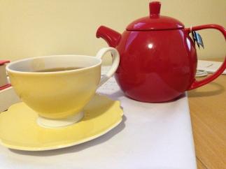 Enjoying some tea