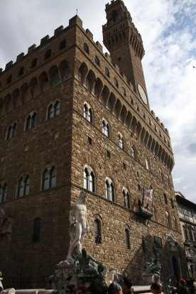 Palazzo Vecchio - now a museum but also the seat for the Mayor of Florence