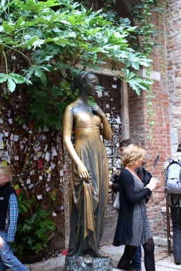 The bronze statue of Juliet. You can see how the right breast has been worn smooth.