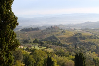The hills around San Gimignano