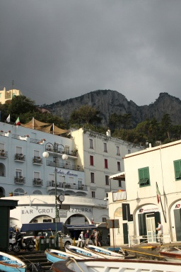 First arrival on Capri