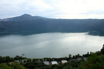 The view out over Nemi Lake