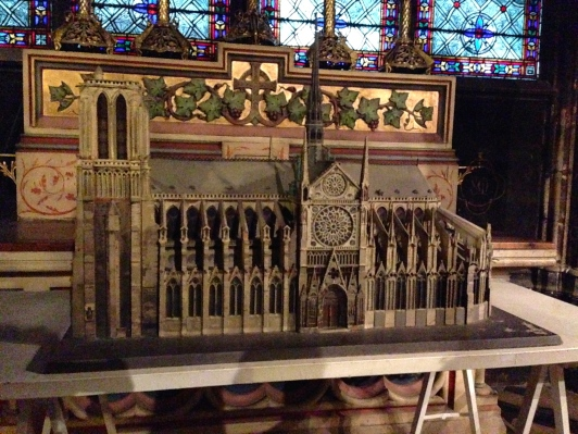 Scale model of the cathedral