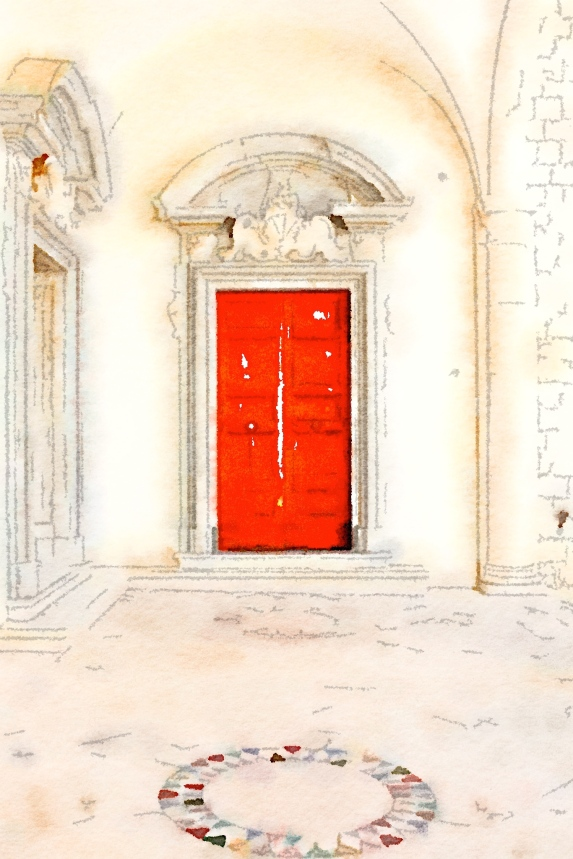 Red door, Montecassino