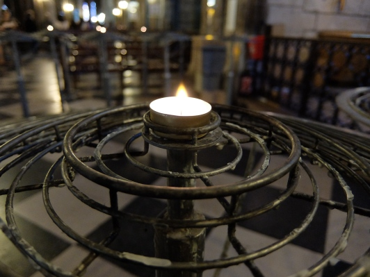 The candle I lit.