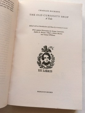 My gift shop purchase with the Dickens Museum ex libris stamp.